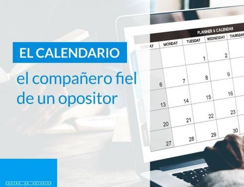 Calendario para estudiar oposiciones